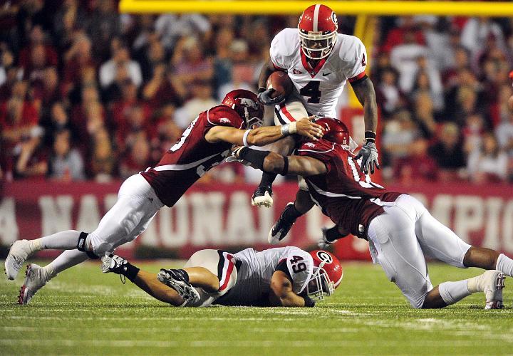 bulldogs-vs-razorbacks college football
