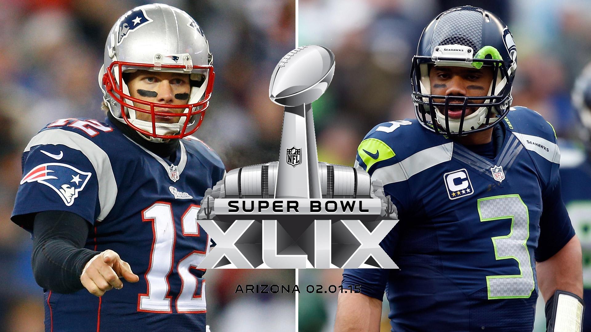 Tom Brady vs Russell Wilson Super Bowl 49
