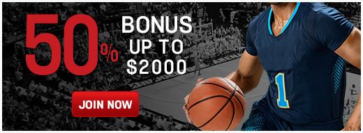 50% Bonus Up To $2000