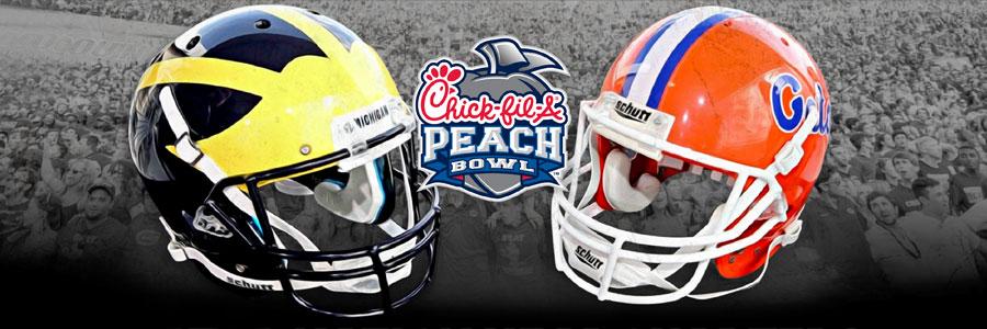 Florida vs Michigan 2018 Peach Bowl Odds & Pick