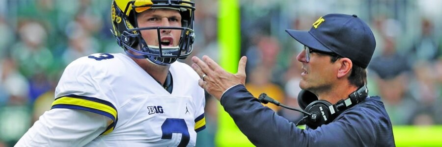 Coach Jim Harbaugh can come off as pretty arrogant at times, there's no doubt the man knows how to both, build a winning program and coach the game for BIG 10.