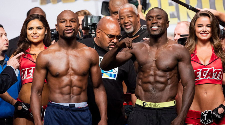 Andre Berto and Mayweather
