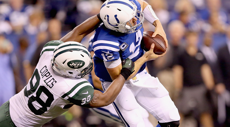 Andrew Luck Sacked By Jets