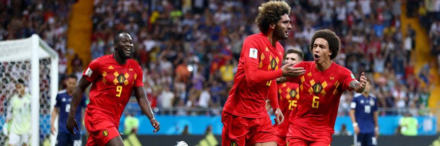 Belgium is slight underdog at the 2018 World Cup Quarterfinals Odds against Brazil.