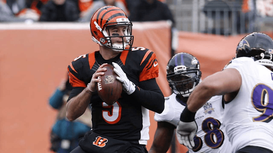 AJ McCarron will try to break the Bengals bad luck playoff streak.