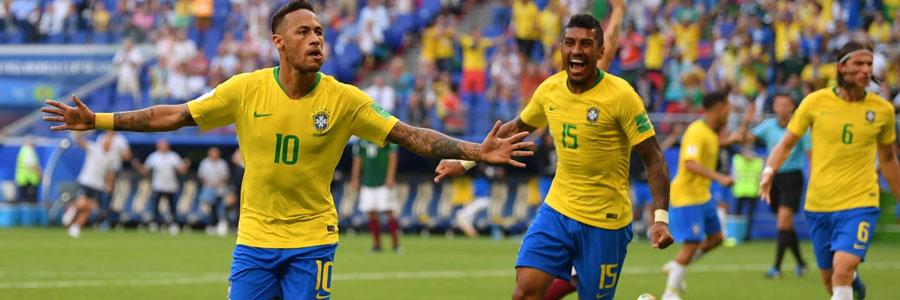 Brazil vs Belgium 2018 World Cup Quarterfinals Odds & Pick.