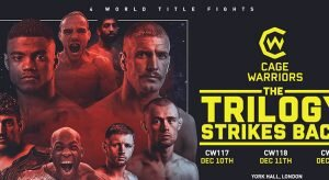 Cage Warriors 123, Cage Warriors 124 & Cage Warriors 125 Betting Preview