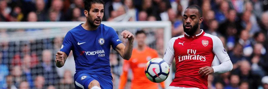 Chelsea is the slight Soccer Betting favorites against Arsenal.