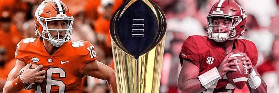 Clemson vs Alabama 2019 National Championship Odds & Analysis