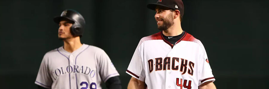 According to the Wild Card Odds the Diamondbacks are favorites to beat the Rockies