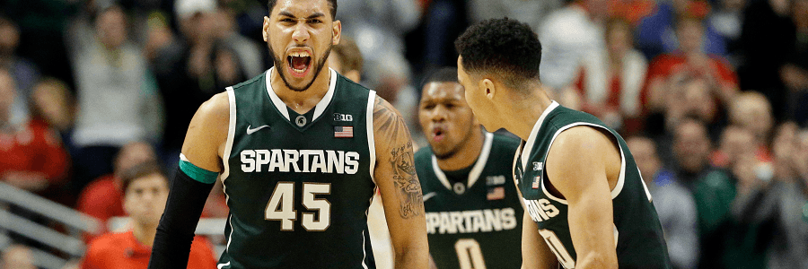 Michigan State will look for a win to make them stronger for March Madness.