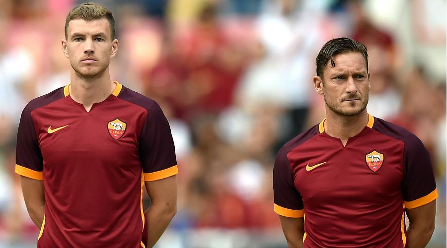 Dzeko and Totti