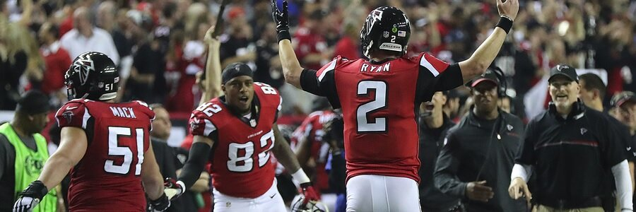 Falcons are slight favorite at the NFL Betting Lines for Week 8.