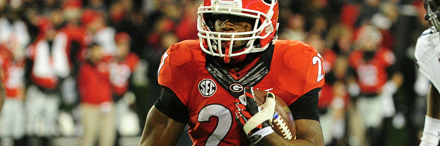 Nick Chubb is one of the reasons to consider Georgia as potential NCAAF Playoffs winners.