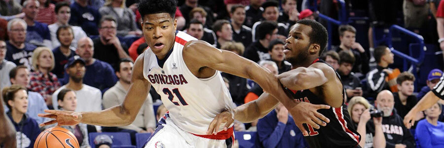 Despite playing at home, Gonzaga is the Underdog at the College Basketball Lines for this Week.