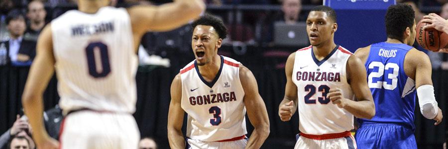 San Francisco vs Gonzaga NCAAB Lines, Preview & Prediction