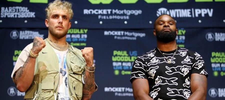 Jake Paul vs Tyron Woodley Boxing Betting Update Is It Jake a Celebrity Match