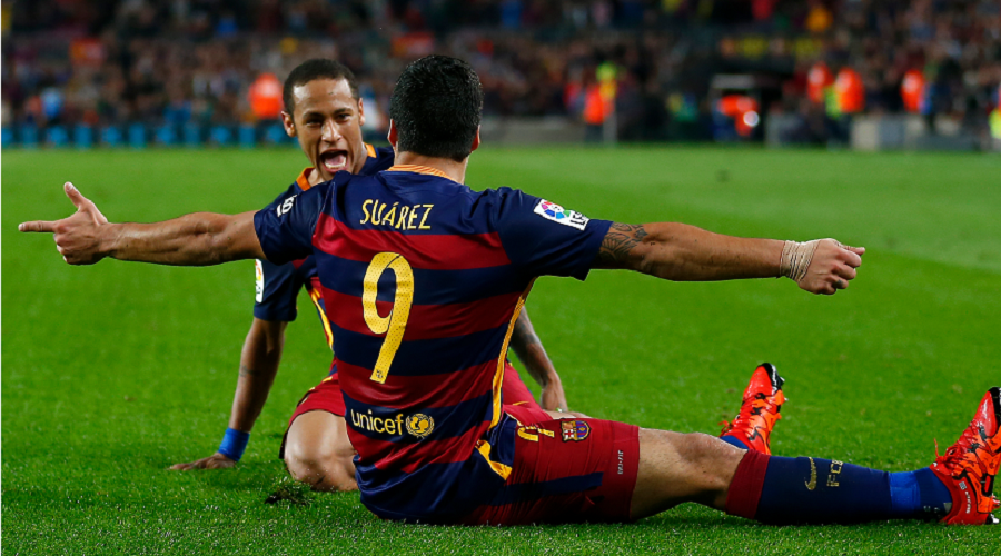 Luis Suarez and Neymar FCB