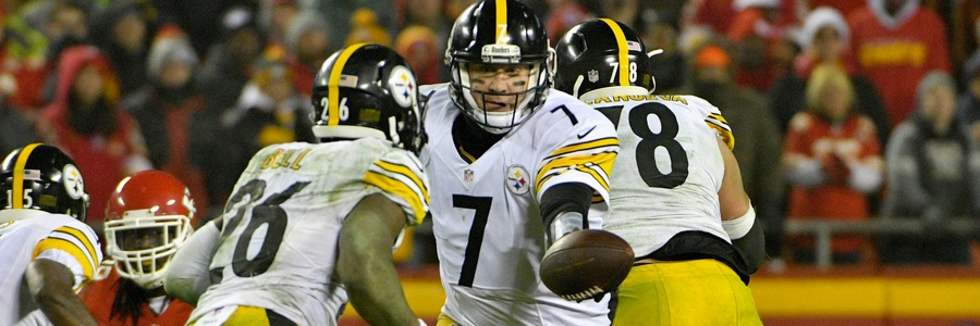 Despite playing on the road, the Pittsburgh Steelers are the NFL Betting favorites against the Ravens.