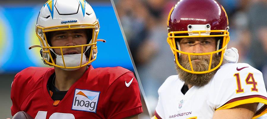 NFL 2021 Regular Season: Chargers at Washington Betting Analysis