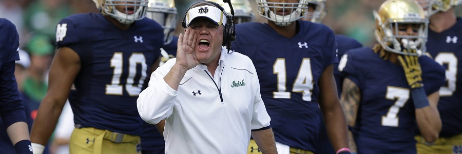 Notre Dame vs. Massachusetts NCAA Football Spread Preview