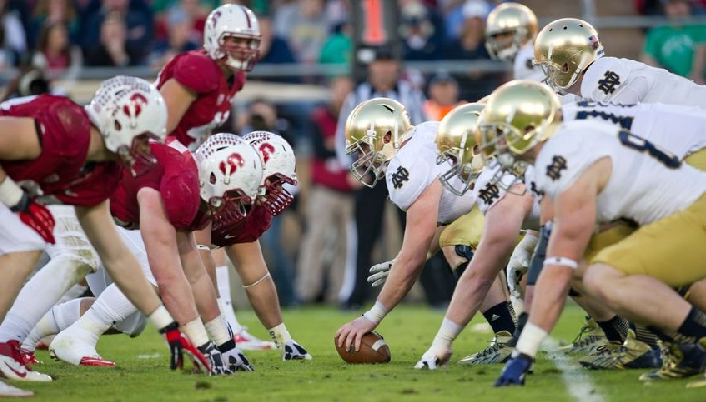 Stanford vs Notre Dame Stand off