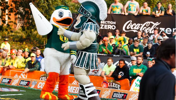 Oregon vs Michigan State Mascots