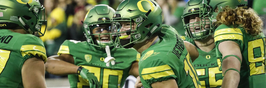 Oregon vs California NCAA Football Week 5 Spread & Game Info.