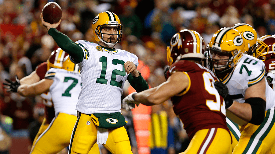 Aaron Rodgers answered the call when he was needed to beat the Redskins.