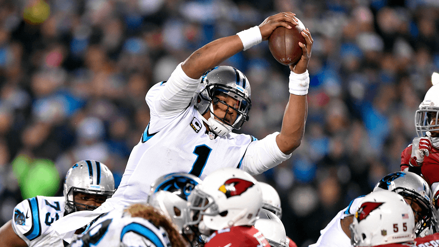Cam Newton and the Panthers tore through the Cardinals defense.