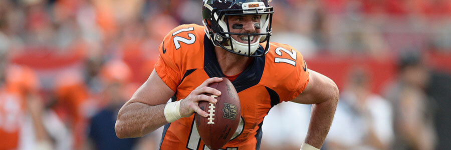 Paxton Lynch is starting for the NFL Betting Lines favorite Denver Broncos in Week 17.