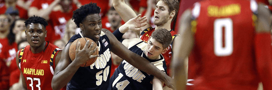 Purdue lost against a rallying Maryland Team.