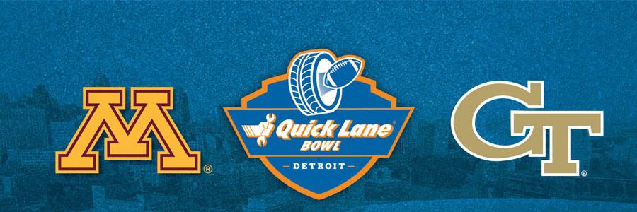Minnesota vs Georgia Tech 2018 Quick Lane Bowl Odds & Prediction.