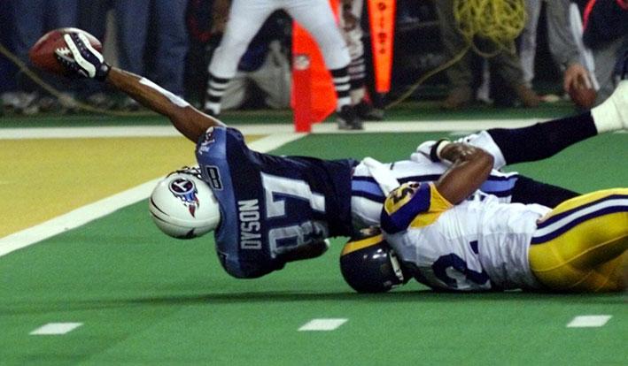 Kevin Dyson Rams vs Titans