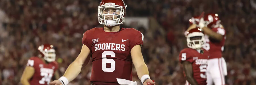 Baker Mayfield converts Oklahoma into a good College Football Playoff Betting Pick.