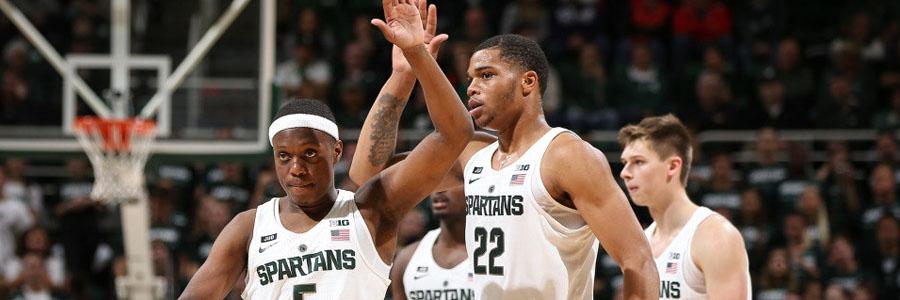 The Spartans are huge favorites at the NCAA Basketball Spread against Illinois.