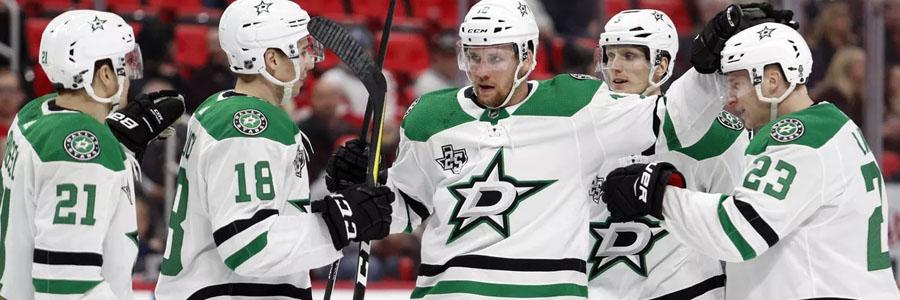 Stars vs Blackhawks NHL Odds, Preview & Pick.