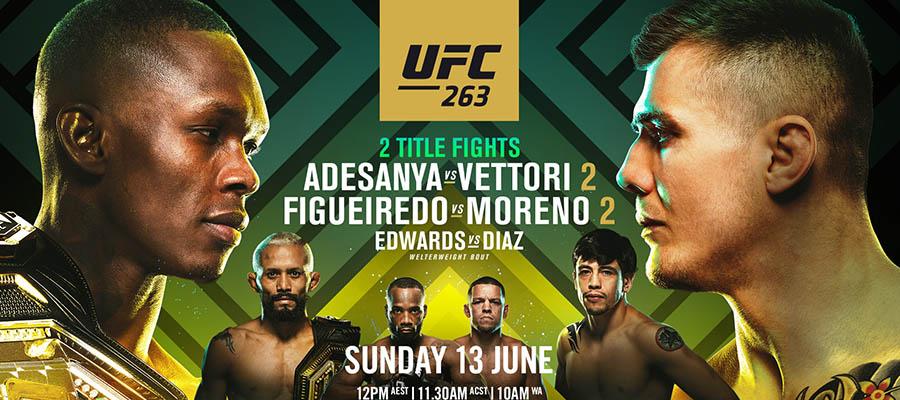 UFC 263: Adesanya Vs Vettori 2 Betting Odds & Picks
