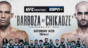 UFC Fight Night: Barboza Vs Chikadze Betting Odds & Picks