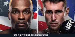 UFC Fight Night: Brunson vs. Till Betting Odds & Picks