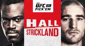 UFC Fight Night: Hall Vs Strickland Betting Odds & Picks