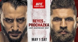 UFC on ESPN 23: Reyes Vs Prochazka Betting Odds