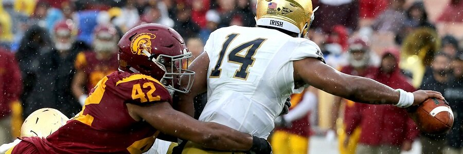 USC Trojans at Notre Dame Fighting Irish NCAA Football Week 8