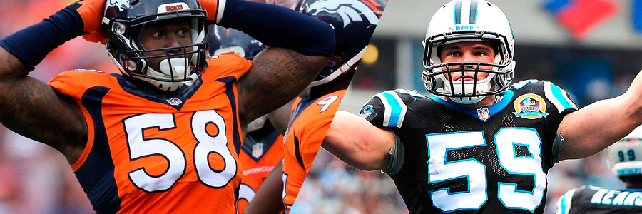Von Miller and Luke Kuechly will both be leading their defensive lines to Super Bowl 50 glory.