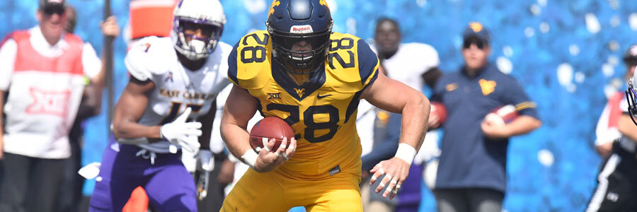 According to the NCAAF Betting Odds for Week 10, the Mountaineers are favorites to beat Iowa State.