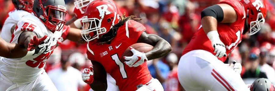 Rutgers heads into this match up as the underdog in the NCAAF odds.