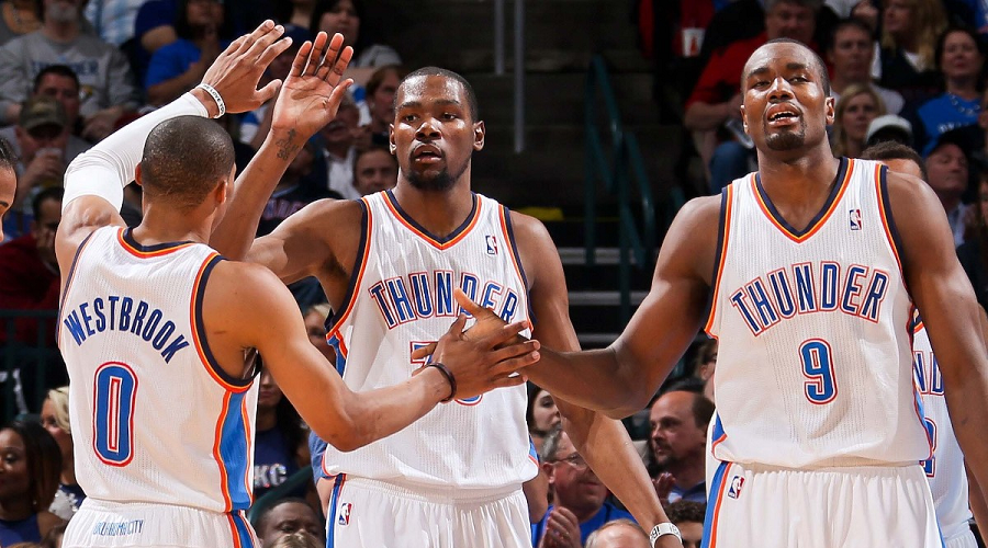 Westbrook, Durant and Ibaka