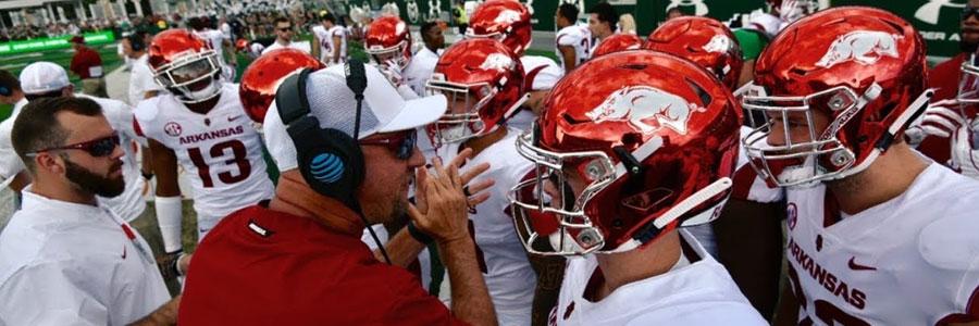 Arkansas at Auburn NCAA Football Week 4 Spread & Preview