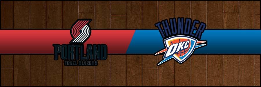 Blazers @ Thunder Result Wednesday Basketball Score