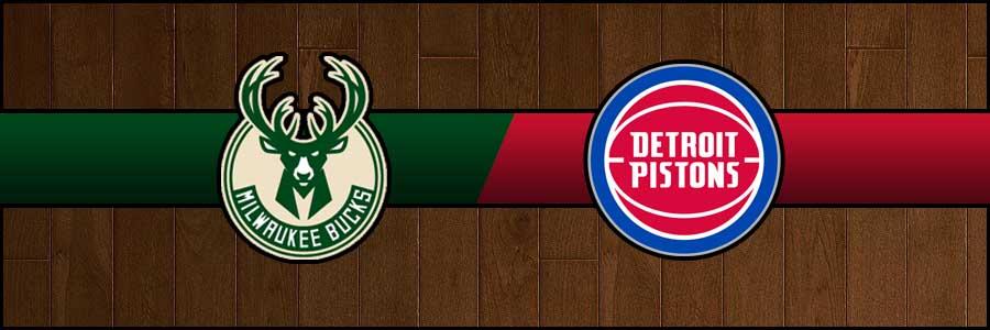 Bucks vs Pistons Result Basketball Score